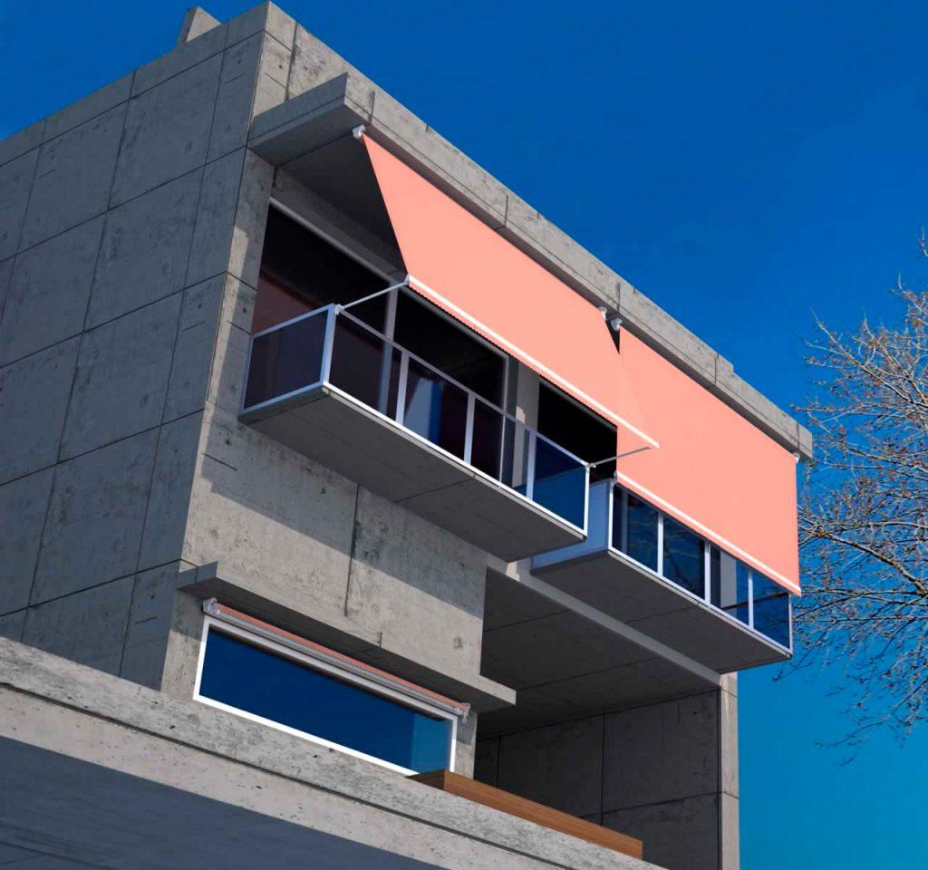 Otra de las características que le hace viable para colocar en balcones es la posibilidad de colocarlo a techo